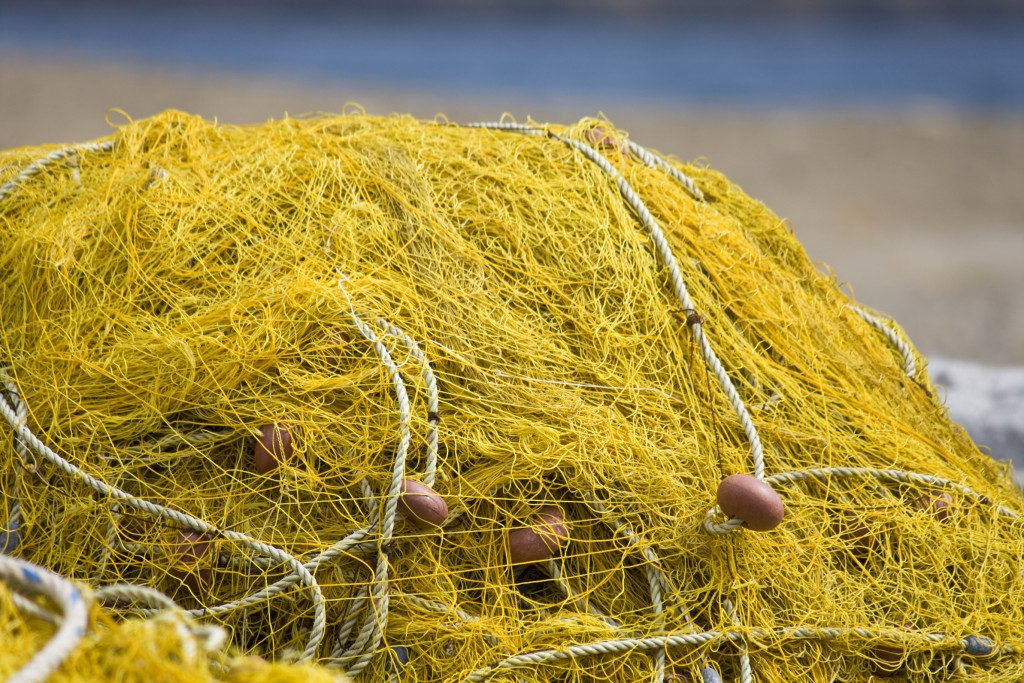 Detail image of a traditional fishing net